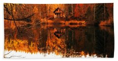 Autumn Dreams Reflected L B Beach Towel