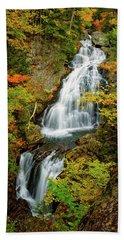 Beach Towel featuring the photograph Autumn Falls, Crystal Cascade by Jeff Sinon