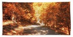 Autumn Forest Beach Sheet