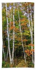 Autumn Grove, Vertical Beach Towel
