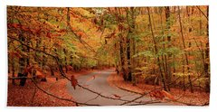 Autumn In Holmdel Park Beach Towel