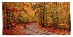Autumn In Holmdel Park Beach Sheet