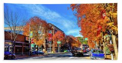 Beach Towel featuring the photograph Autumn In Pullman by David Patterson