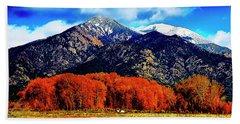 Autumn In Taos New Mexico Beach Sheet