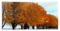 Autumn Leaves In Menominee Michigan Beach Towel