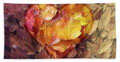 Autumn Love Beach Sheet