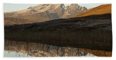 Beach Towel featuring the photograph Autumn Meets Winter At Blaven by Stephen Taylor