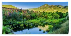 Beach Towel featuring the photograph Autumn On The Little Deer Creek by TL Mair