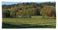 Autumn Scenery Beach Towel