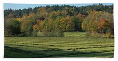 Autumn Scenery Beach Towel