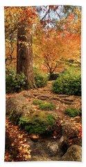 Autumn Stream In Lithia Park Beach Towel