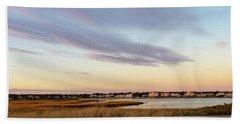 Autumn Sunset At West Dennis Beach Cape Cod Beach Sheet