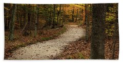 Autumn Trail Beach Towel