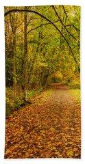 Autumn Walk Beach Sheet