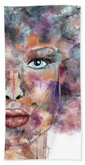 Autumn - Woman Abstract Art Beach Towel