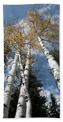 Autumnal Aspen Beach Sheet