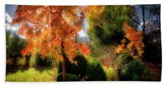Beach Towel featuring the photograph Autumnal Glory by Edmund Nagele