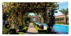 Awesome J Paul Getty Villa Pacific Palisades California  Beach Towel