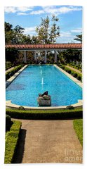 Awesome View Getty Villa Pool  Beach Towel