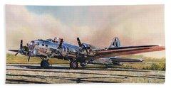 B-17g Sentimental Journey Beach Sheet