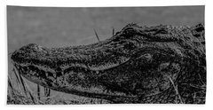 B And W Gator Beach Towel