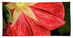 Back Of Red Flower Beach Towel