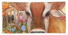 Backyard Cow Beach Sheet