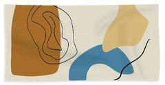 Badlands 1 Minimalist Abstract Beach Sheet