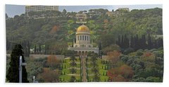 Bahai Gardens And Temple - Haifa, Israel Beach Sheet