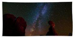 Balanced Rock Below The Milky Way Beach Sheet