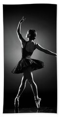 Ballerina Dancing Beach Towel