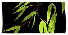 Bamboo Leaves 0580a Beach Towel