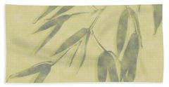 Bamboo Leaves 0580b Beach Towel