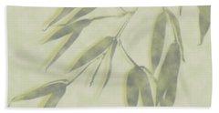 Bamboo Leaves 0580c Beach Towel