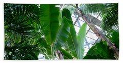Banana Leaves In The Greenhouse Beach Towel