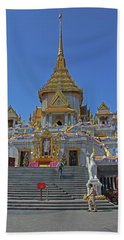 Bangkok, Thailand - Golden Buddha Temple Beach Sheet