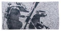 Banksy Bazooka Rats Beach Towel