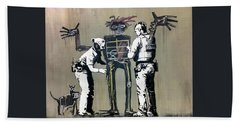 Banksy Coppers Pat Down Beach Towel