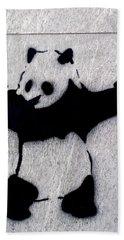 Banksy Panda Beach Towel