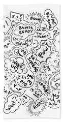 Banter Bubbles From A Comic Creation Beach Towel