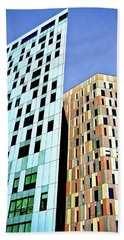 Beach Towel featuring the photograph Barcelona Buildings Abstract by Robert FERD Frank