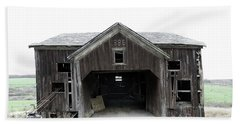 Beach Towel featuring the photograph Barn 1886, Old Barn In Walton, Ny by Gary Heller