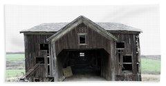 Barn 1886, Old Barn In Walton, Ny Beach Sheet