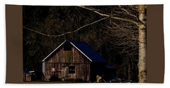 Beach Towel featuring the photograph Barn Highlight by Jerry Sodorff