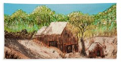 Barn On The Hill Beach Towel