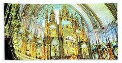 Basilica Of Notre Dame Montreal Quebec Beach Towel