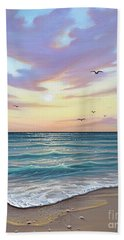 Basking In The Sunset Beach Towel