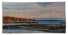 Bass Harbor Sunset Beach Towel