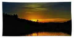 Bass Lake Sunrise Duck Beach Towel