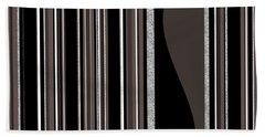 Bass Note - Random Stripes - Black And White Beach Sheet